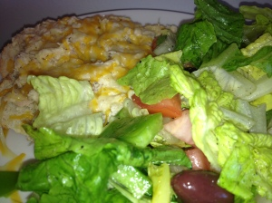 Openfaced Tuna Melt with Salad